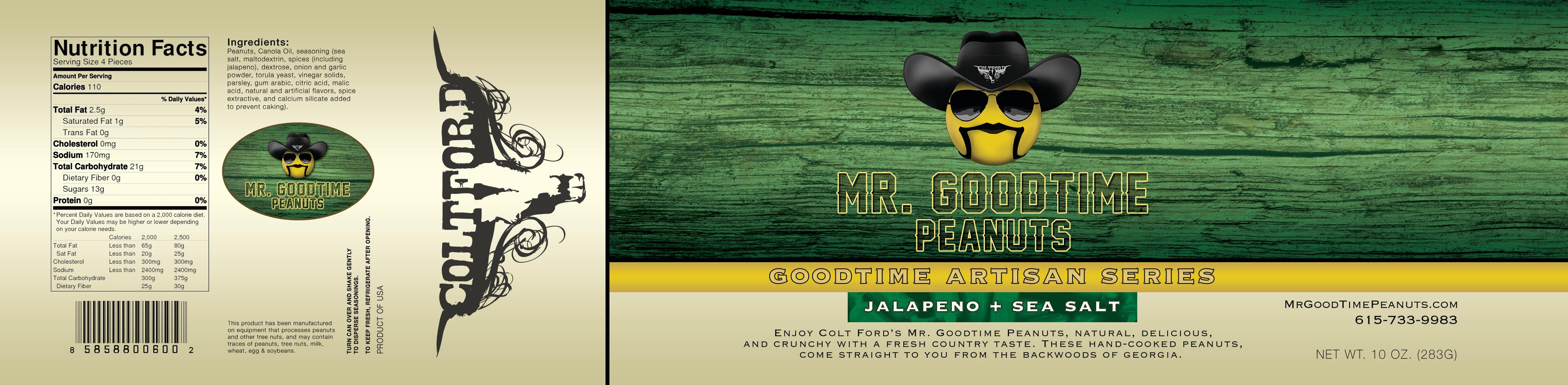 Mr. Gootime Peanuts Artisan Jalapeno and sea salt