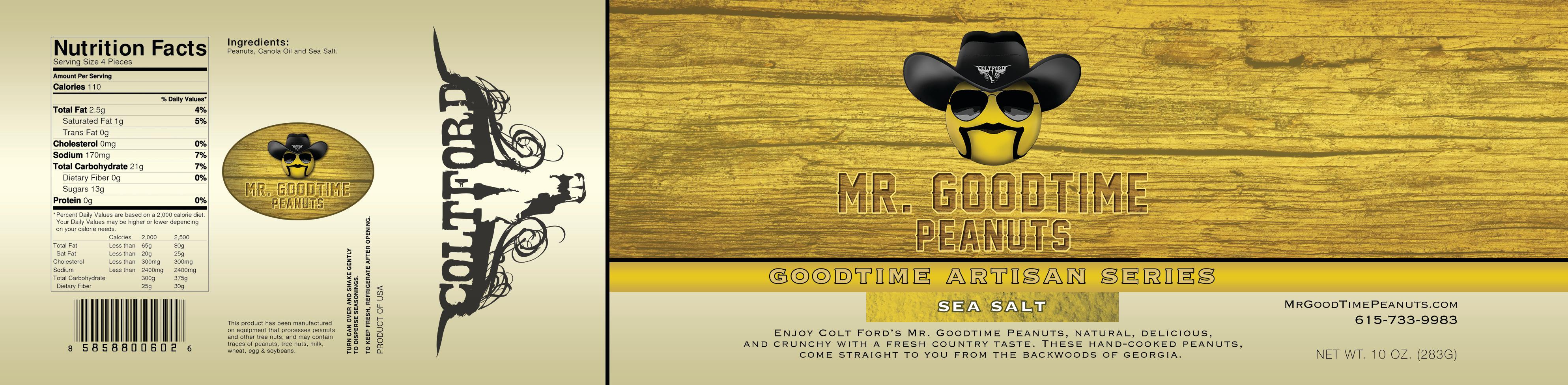 Mr. Gootime Peanuts Artisan sea salt