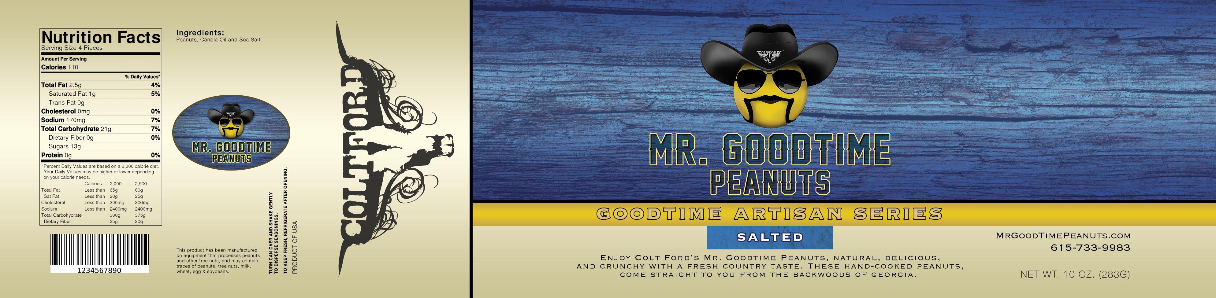 Mr. Gootime Peanuts Artisan Salted
