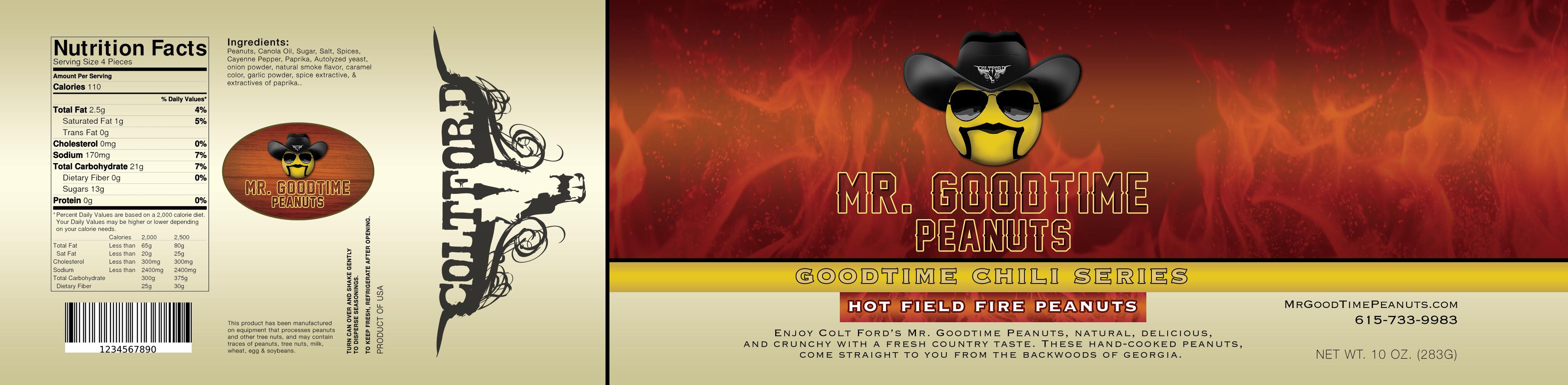 Mr. Gootime Peanuts Hot Field Fire