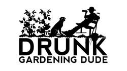 Drunk Gardening Dude 1-2 (black)