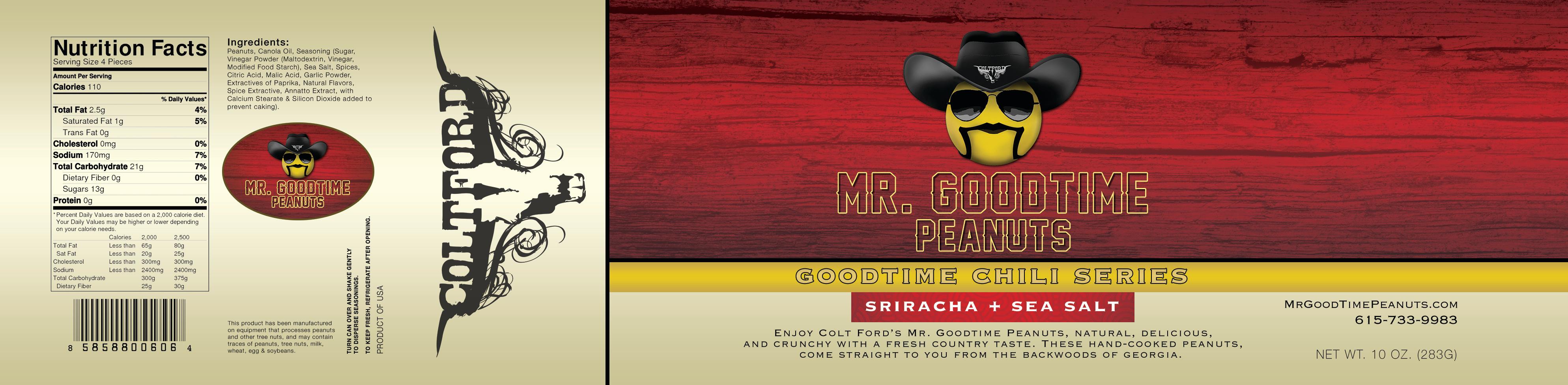Mr. Gootime Peanuts Sriracha and Sea Salt