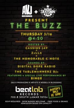 The Buzz flyer