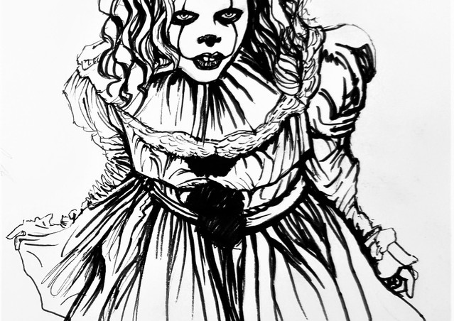 Lady Pennywise Ink Sketch.jpg