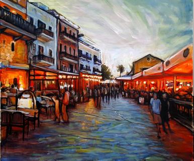Girne harbour acrylic evening.jpg