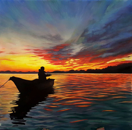 fishing boat during sunset.jpg
