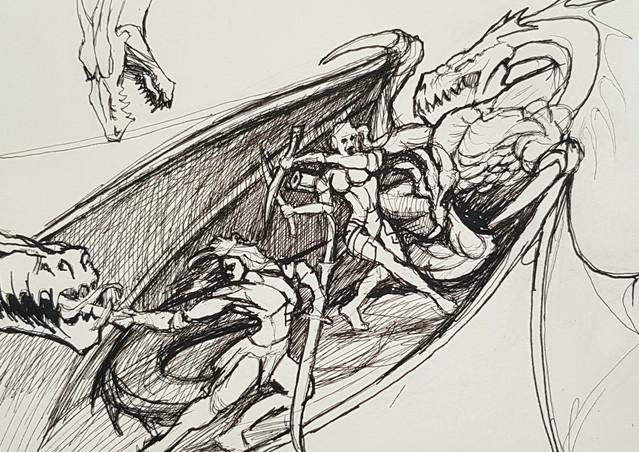 Fantasy 2 warriors sketch.jpg