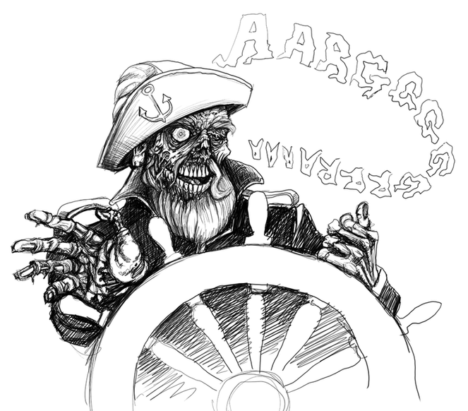 DIgital sketch Zombie-Sailor-1a-low-res.