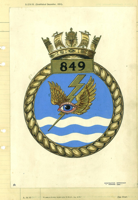 The original 849 NAS AEW Crest