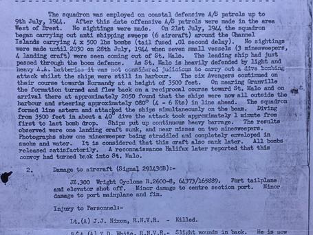 Jul 44 - 849's Monthly Report