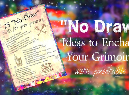 Not an Artist: 25 No Draw Ideas to Enchant Your Grimoire