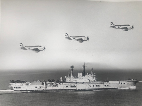 849B joining HMS ARK ROYAL 1975