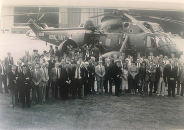 Westlands handover to the RN 1982