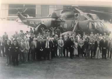 Westlands handover to the RN 1982