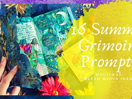16 Summer Magick Grimoire Prompts