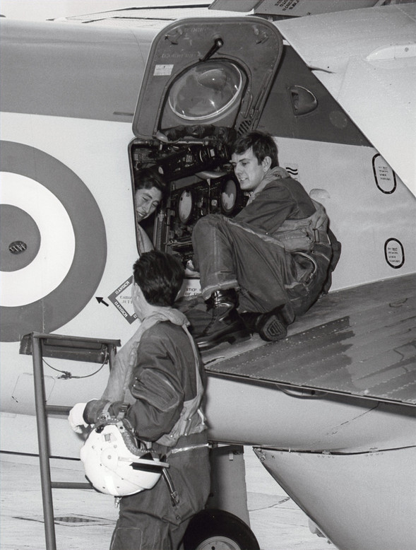 HRH strapping in the AEW3 under the watchful eye of David Roue on the wing