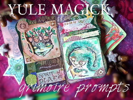 Yule Grimoire Prompts and Printables