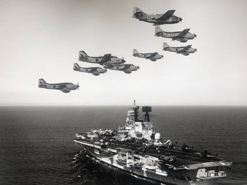 HQ & B Flt formation over HMS ARK ROYAL