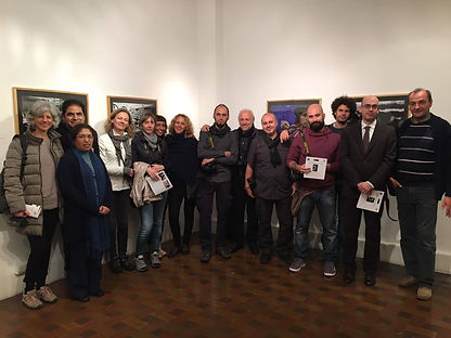 Delegazione della Graffiti scuola di fotografia all'inaugurazione della mostra Peru a Lima