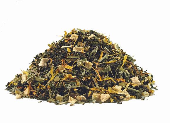 Ingwer/Zitrusfrüchte/Honig; natürlich aromatisierte Grünteemischung; 518142