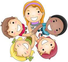 Kids with Hands Togethe Clipart