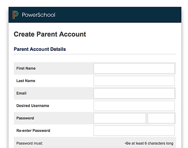 PowerSchool Create Parent Account Empty Info