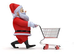 Santa with Shopping Cart