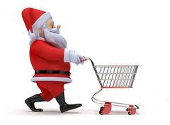 Santa with Shopping Cart