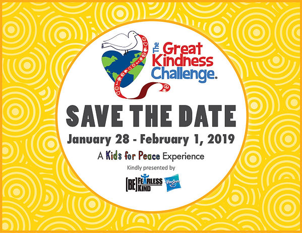 The Great Kindness Challenge Save the Date
