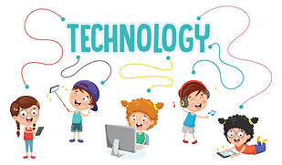 Kids with Technology Clipart