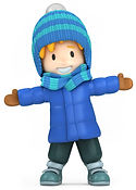 Boy in Blue Winter Coat