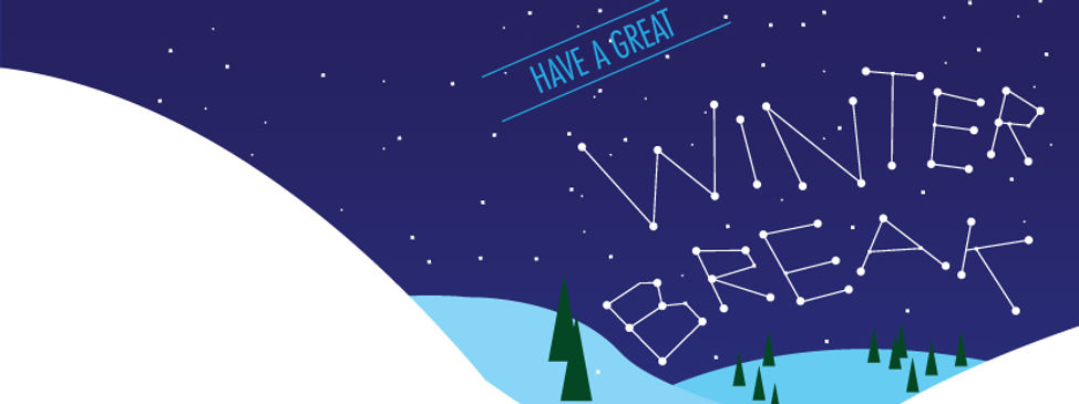 winter break banner