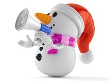 Snowman with Megaphone