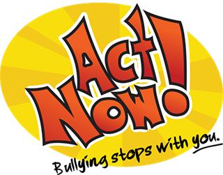 Act Now! Bullying stops with you. Clipart