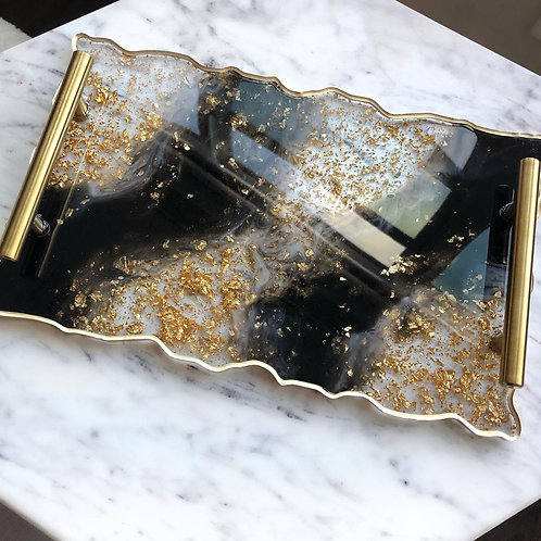 RESIN TRAY-CANDY TIER (ABSTRACT ART)