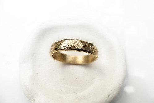 Matte Gold Murmuration Band - Starling Ring