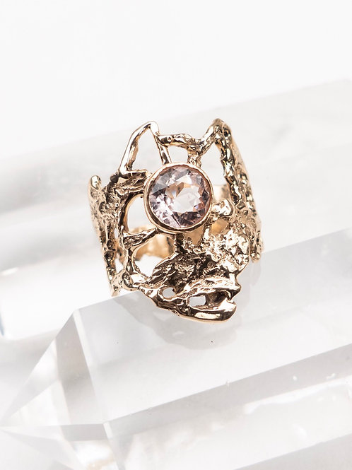 14k Yellow Gold and Morganite Ring