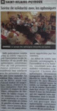 Article paru dans la montagne: Groupe des aphasiques de corrèze repas à Saint hilaire Peyroux organisé par l'Hilairoise 19