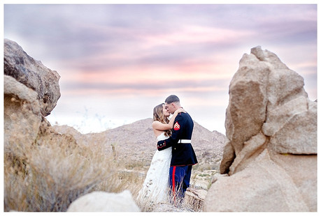 Meet Mr. & Mrs. H | Joshua Tree Marine Wedding