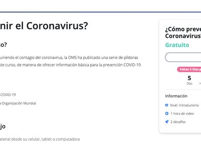 Capacitación virtual sobre Coronavirus.