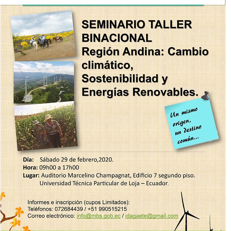 Seminario Taller Binacional Región andina: cambio climático, sostenibilidad y energías renovables