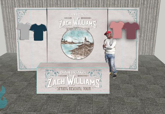 ZachWilliams Rendering Merchandise Booth Display