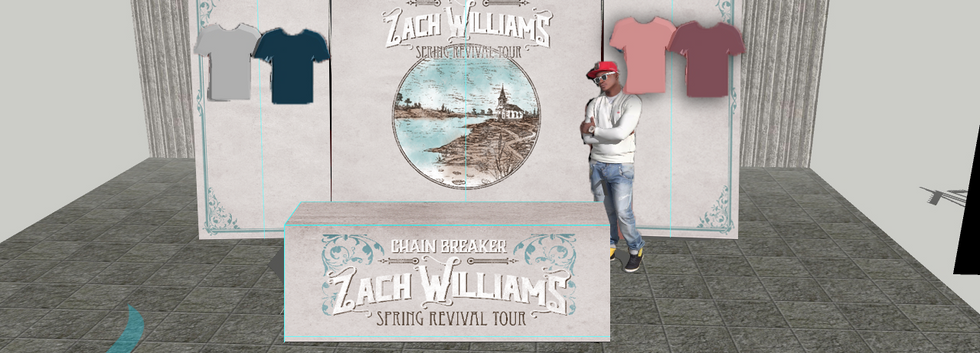 ZachWilliams Rendering Merchandise Booth Display