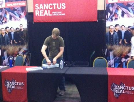 Sanctus Real Merchandise Booth Display
