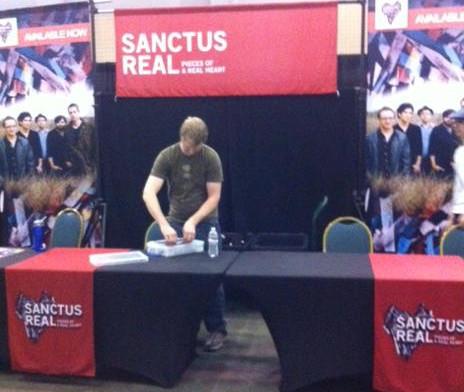 Sanctus Real Merchandise Booth Display