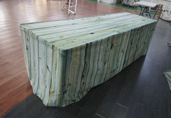 Wood Look Table Cover
