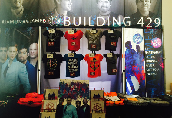 Building 429 Merchandise Booth Display
