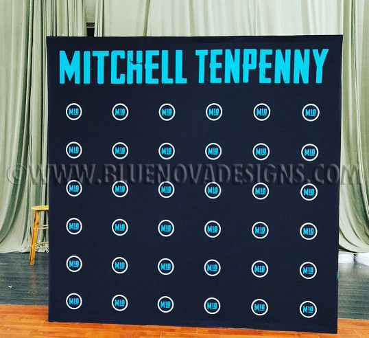 Concert Booth Step and Repeat Banner