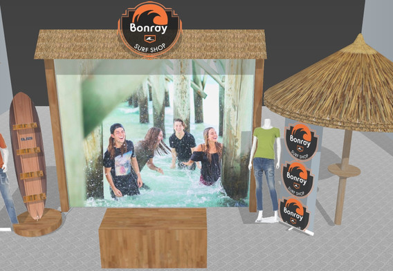 Bonray Rendering Merchandise Booth Display