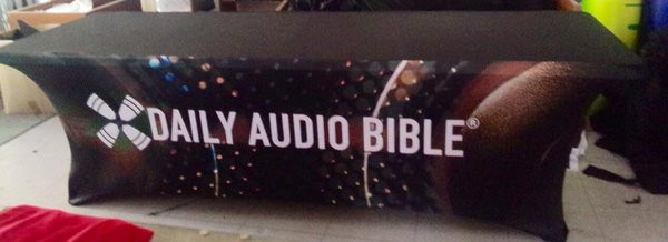 Daily Audio Bible Table Cover